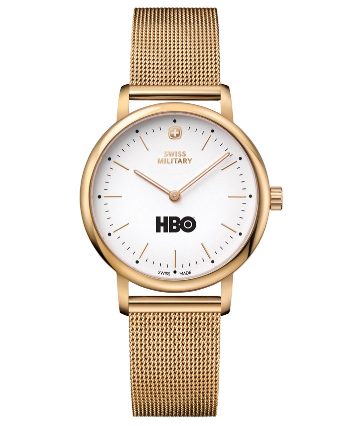 Gold HBO Urban Classic Watch with Metal Band