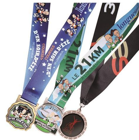 Sports Medals with  Custom Sublimated Lanyard