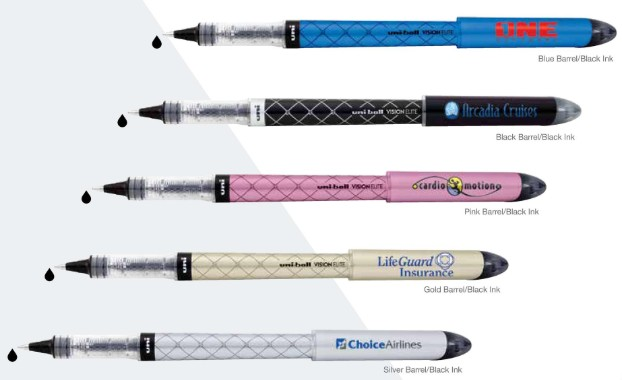 Custom Printed Vision Elite Designer Rollerball Pens