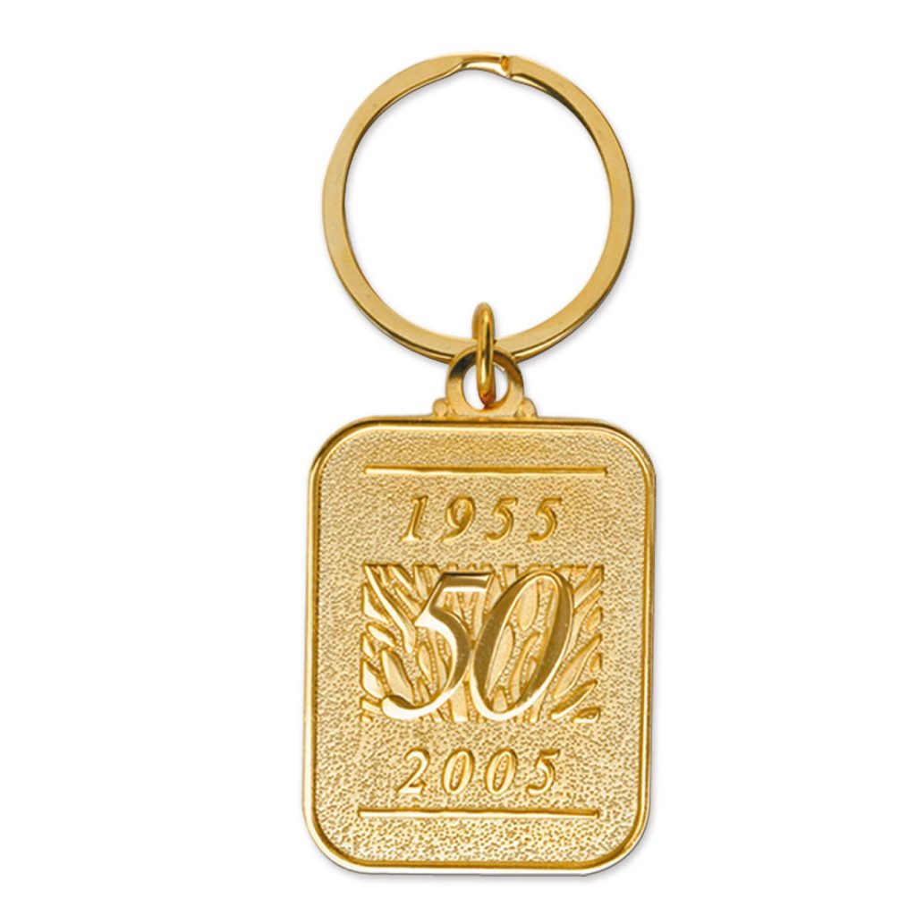 Die-Struck Gold Promotional Key Chain