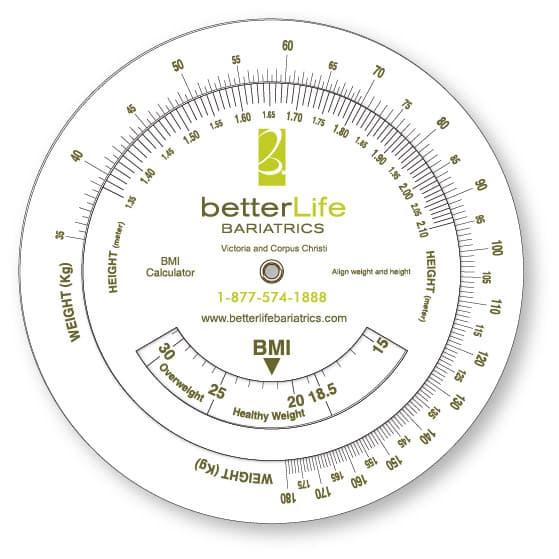 BetterLife Bariatrics Body Mass Calculator