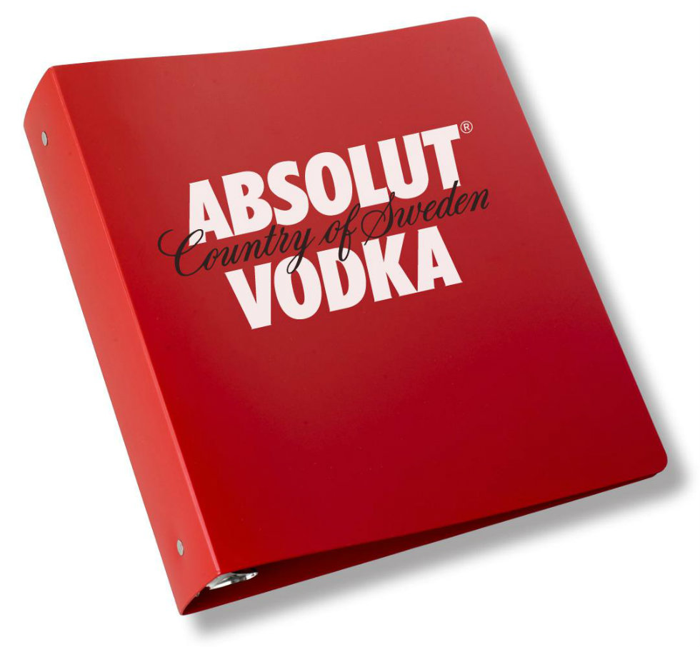 Absolut Vodka Printed Polypropylene Binders