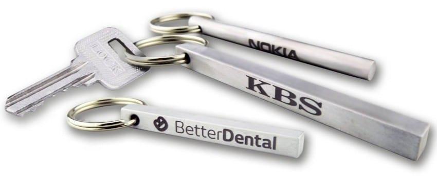 Laser Engraved Aluminum Key Tags Bars & Tubes
