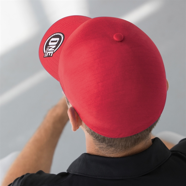 Red One-Touch Seamless Panel Hat