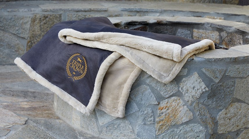 Arctic Black Promotional Blankets with Triple Crown Embroidery
