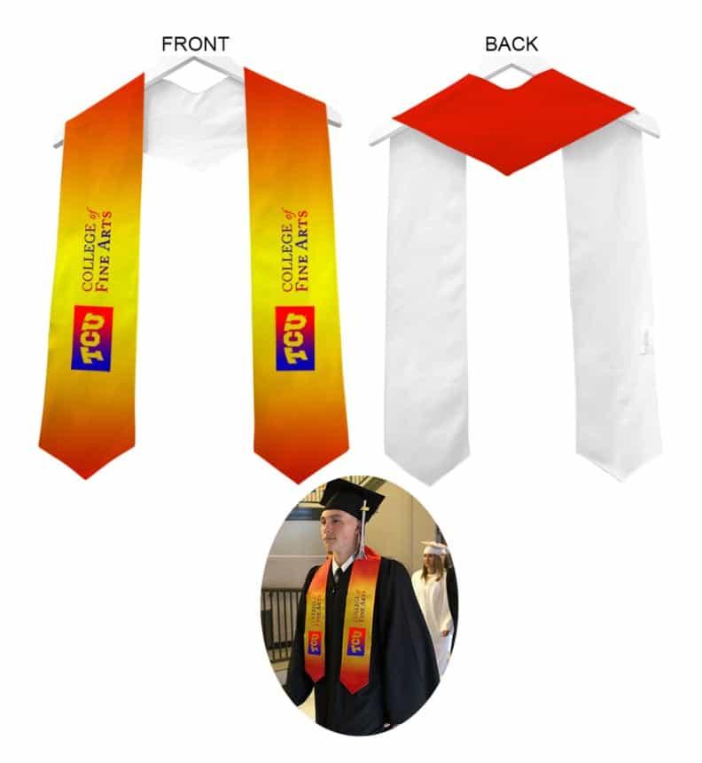 TCU College Fine Arts Graduation Stole