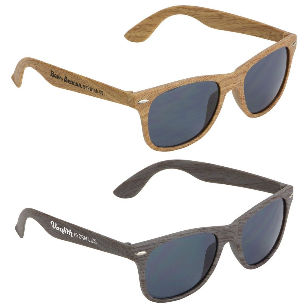 Wood Grained Promotional Sunglasses