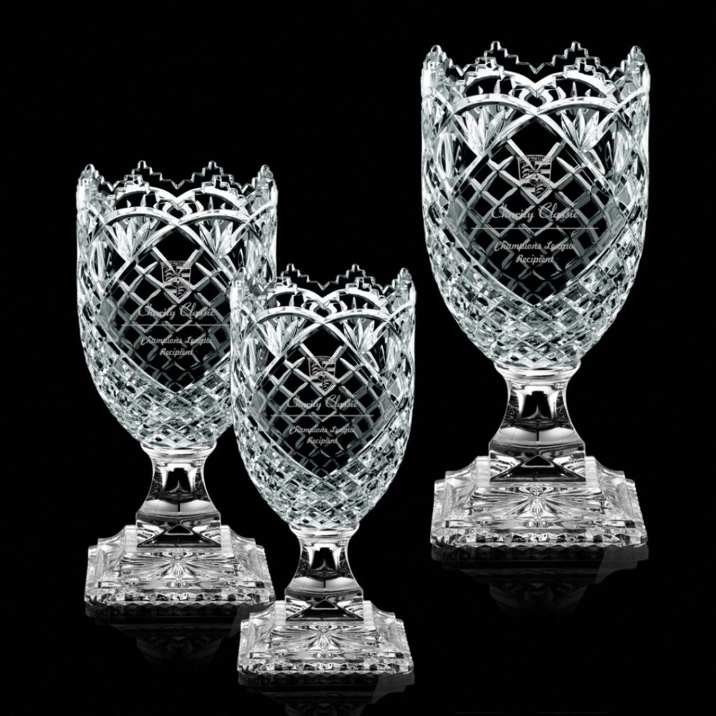 Charity Classic Lead Crystal Awards in 3 sizes