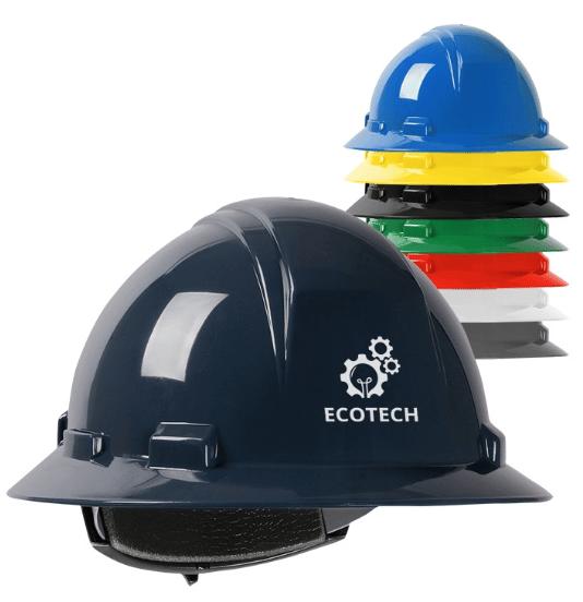 Full Brimmed Printed Hard Hats