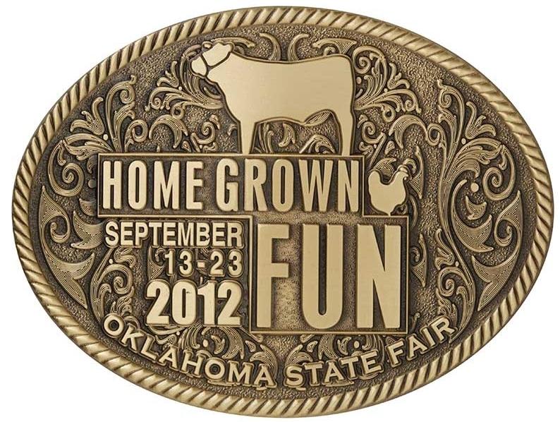 Oklahoma State Fair Buckle