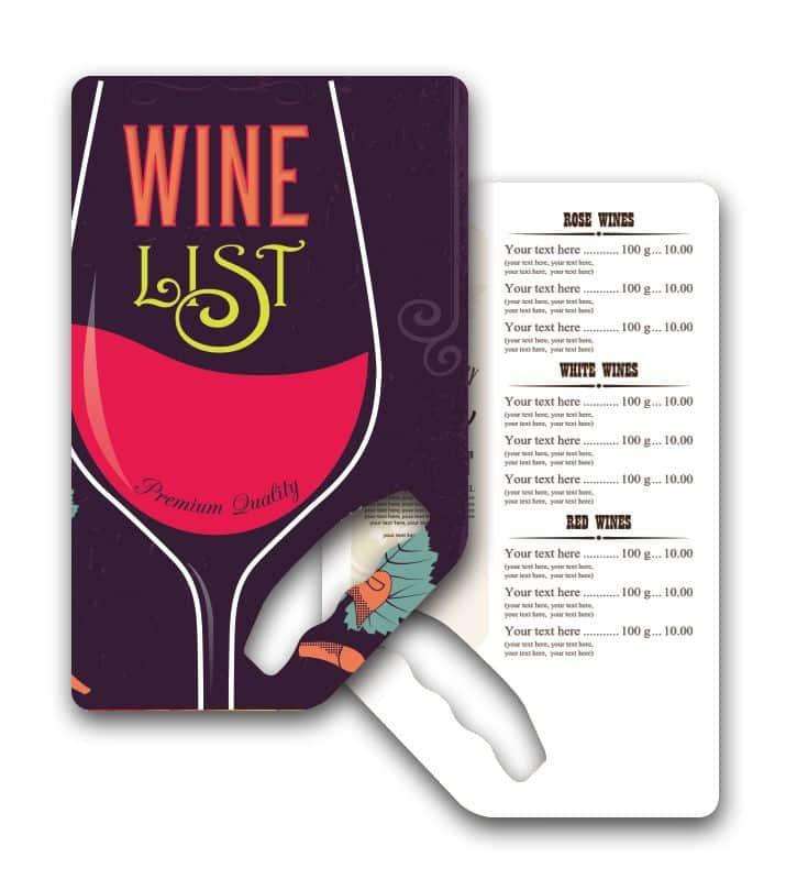 Wine Menus